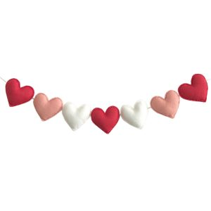 Sweet Felt Dreams Deluxe Pink & Red Heart Garland