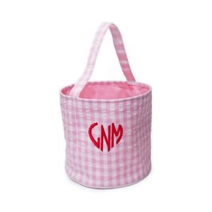 The Bella Bean Shop Personalized Valentine's Day Bucket - Pink Gingham