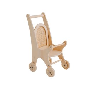 Pretty in Pine Woven Dolly Pram