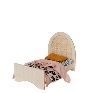 Pretty in Pine Woven Dolly Bed