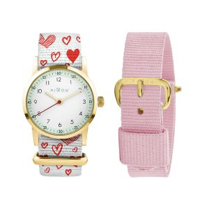 Millow Pink Heart Set with Gold Face