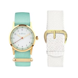 Millow Mint/White Set with Gold Face