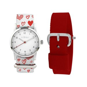 Millow Red Heart Set with Silver Face