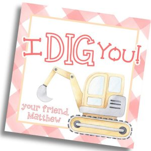 Hunny Bee Paperie Dig Construction Valentine's Day Card
