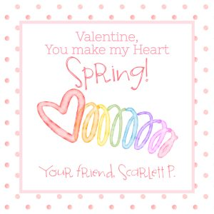 Hunny Bee Paperie Spring Slinky Valentine's Day Card