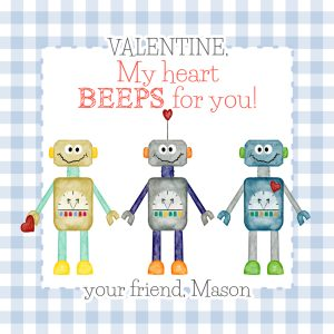 Hunny Bee Paperie Robot Valentine's Day Card