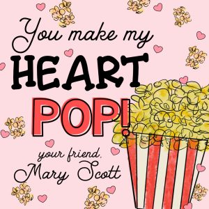 Hunny Bee Paperie Popcorn Valentine's Day Card - Pink