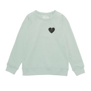 1,2,3 Ciao Toddler Crewneck – Mint with Black Logo