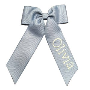 Winn and William Personalized Beaded Bow