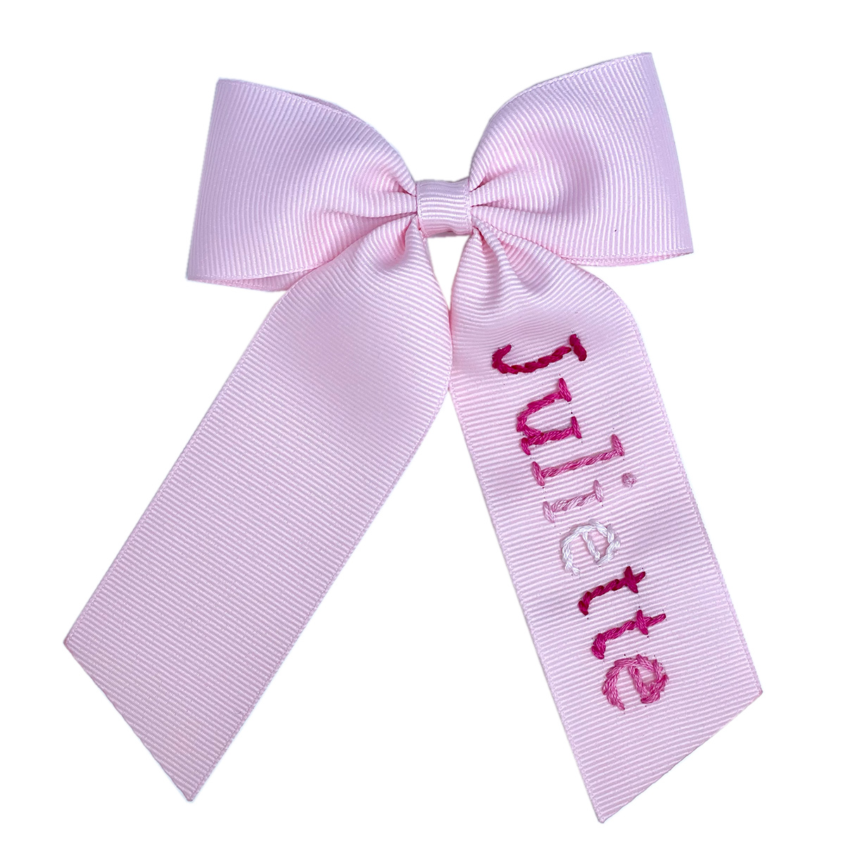 Winn and William Personalized Pink Ombre Bow