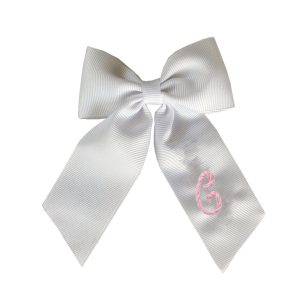 Winn and William Personalized Initial Embroidered Bow