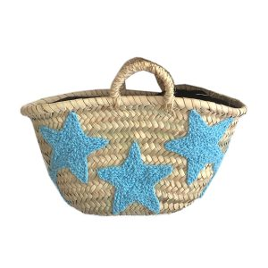 COLORES Collective Mini Star Basket - Light Blue