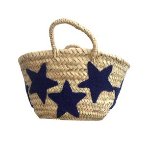 COLORES Collective Mini Star Basket - Navy Blue