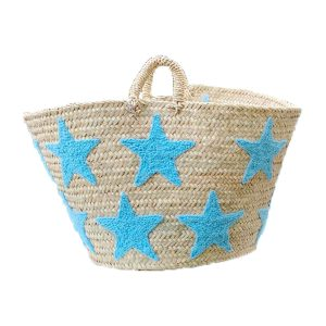 COLORES Collective Jumbo Star Basket – Light Blue Star