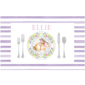 paper n peonies Personalized Reversible Valentine's Day/Easter Placemat – Love