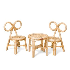 Poppie Toys Mini Rattan Tea Set