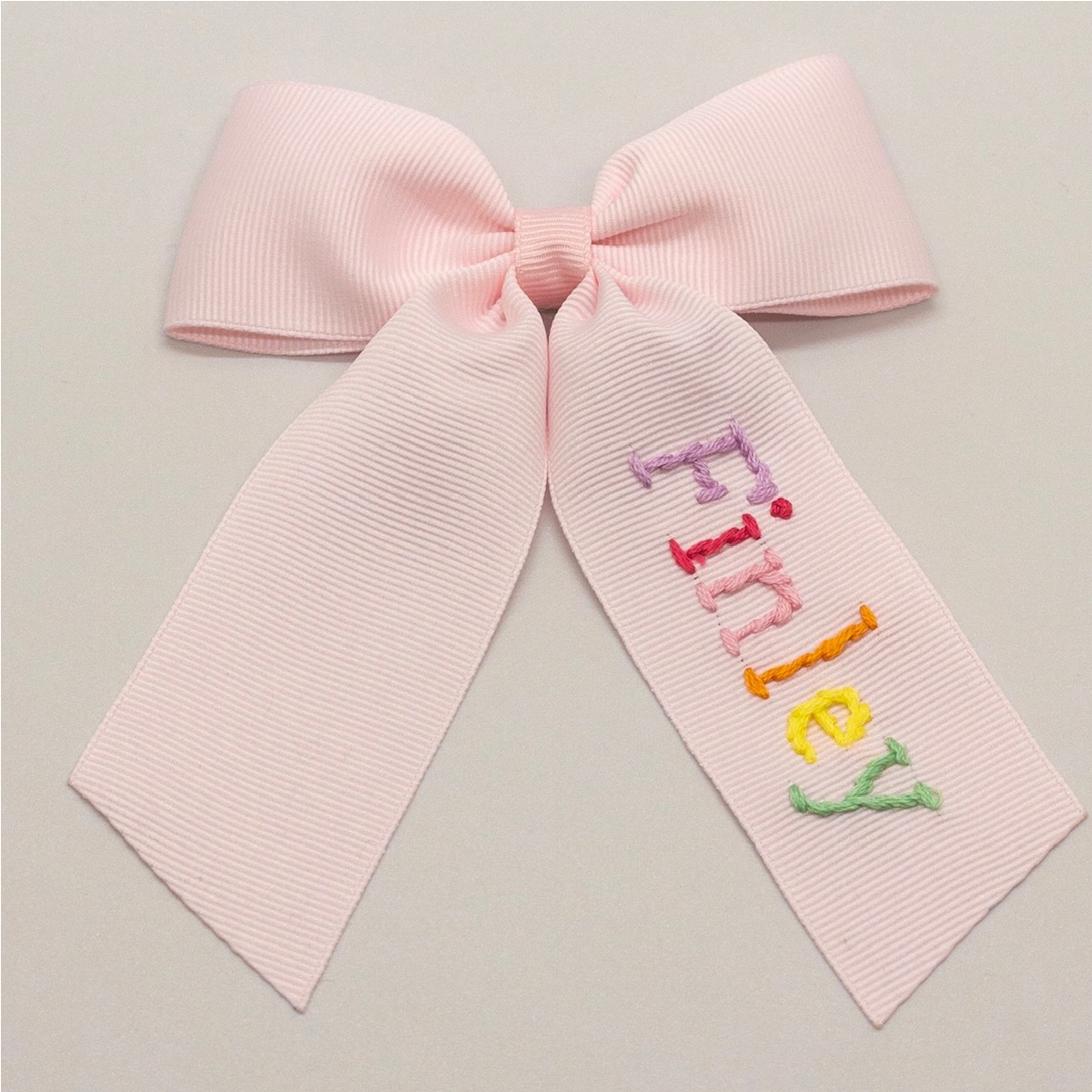 Winn and William Personalized Rainbow Bow