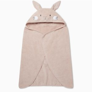 MORI Organic Toddler Bunny Hooded Towel