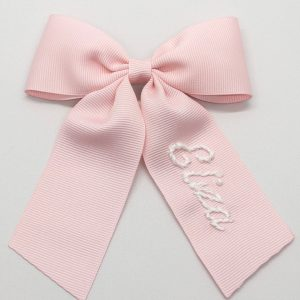 Winn and William Personalized Embroidered Bow