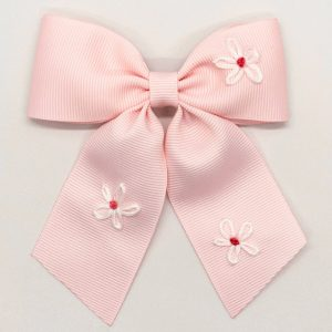 Winn and William Daisy Embroidered Bow