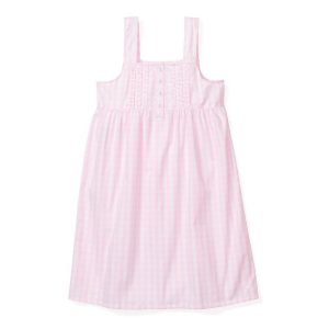 Petite Plume Women's Pink Gingham Charlotte Nightgown