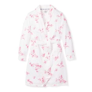 Petite Plume Women's English Rose Floral Robe