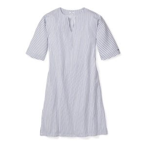 Petite Plume Women's Navy French Ticking Caftan