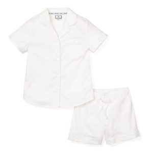 Petite Plume Women's Summer White Short Set