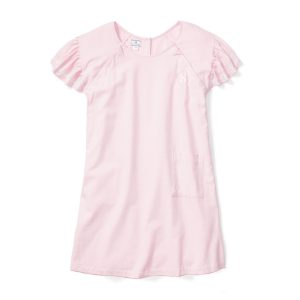 Petite Plume Women's Pink Flannel Hospital Gown