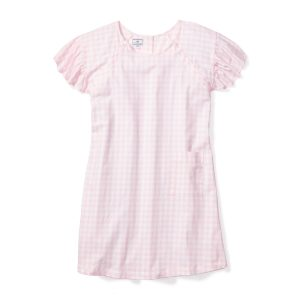 Petite Plume Women's Pink Gingham Hospital Gown