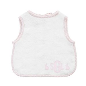 Louelle Personalized Easter Apron Bib - Pink Gingham