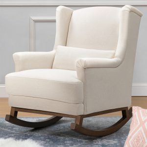 Million Dollar Baby Classic Miranda Wingback Rocker in Eco-Performance Fabric | Water Repellent & Stain Resistant