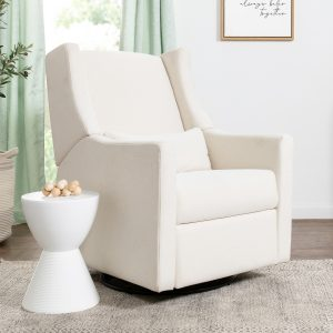 Babyletto Kiwi Electronic Recliner and Swivel Glider in Eco-Performance Fabric with USB Port | Water Repellent & Stain Resistant