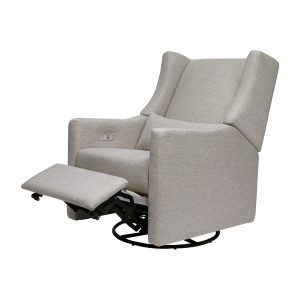 Babyletto Kiwi Electronic Recliner and Swivel Glider in Eco-Performance Fabric with USB Port   Water Repellent & Stain Resistant