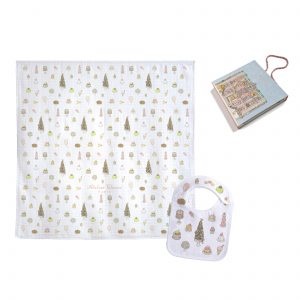 Atelier Choux Swaddle & Small Bib Gift Box Set – Sweetie Pie —