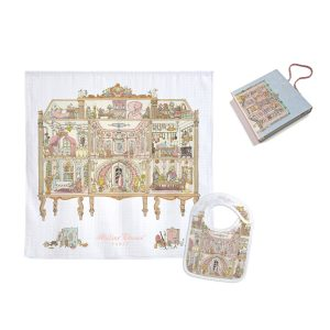 Atelier Choux Swaddle & Small Bib Gift Box Set - Dollhouse