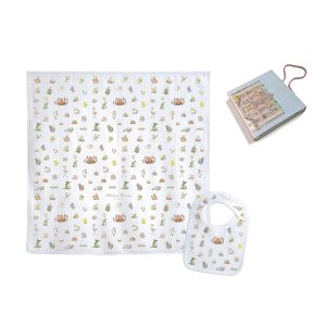 Atelier Choux Swaddle & Small Bib Gift Box Set - Bebe Choux