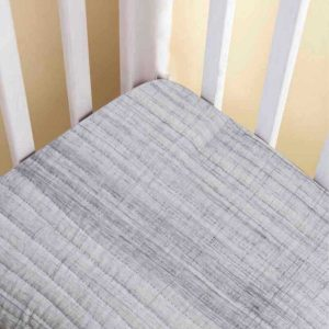 Malabar Baby Fitted Crib Sheet - Grey Brush Stroke