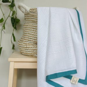Malabar Baby Receiving Blanket - Provence Blue