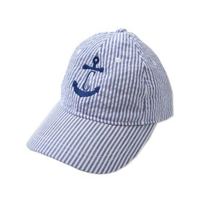 The Bella Bean Shop Personalized Seersucker Hat – Blue