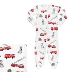 HART + LAND Baby/Toddler Organic Pima Cotton Footed Bodysuit PJ - To The Rescue