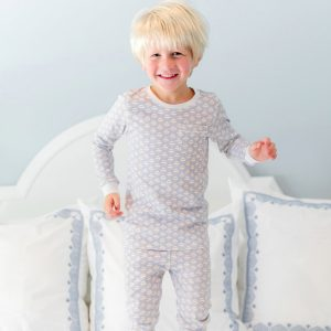 Lila + Hayes Baby/Toddler/Big Kid Bradford Two Piece Pajama Set - Baseballs