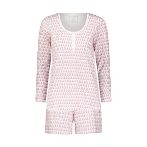 Lila + Hayes Women's Marty Long Sleeve Pajama Set - Bunny Love Pink