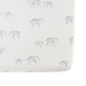 Pehr Follow Me Elephant Crib Sheet