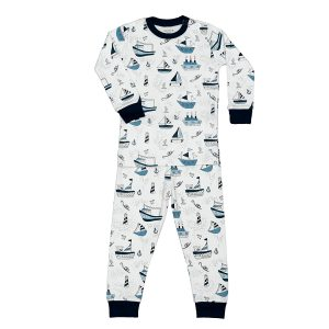 Baby Noomie Baby/Toddler/Big Kid Two Piece Pajama Set - Boats