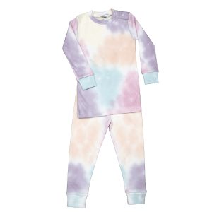 Baby Noomie Baby/Toddler/Big Kid Two Piece Pajama Set - Rainbow Tie Dye