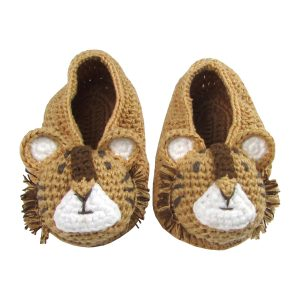 Albetta Baby Crochet Tiger Booties