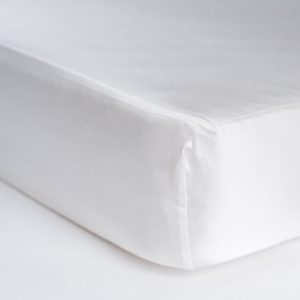 Coco Beans White Fitted Crib Sheet