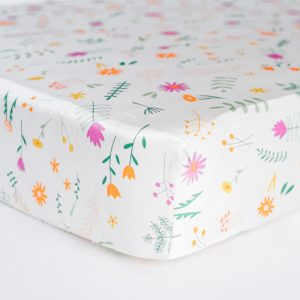 Coco Beans Field of Dreams Fitted Crib Sheet