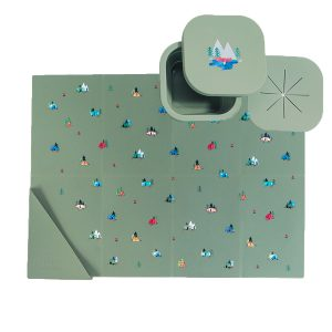 Austin Baby Collection Silicone On The Go Set - Camper Sage